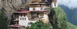 The pilgrimage to Tiger's Nest is a major highlight of a trip to Bhutan. Photo by Debbie Stone