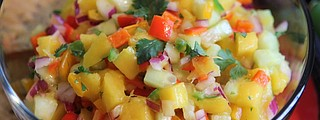 Serve this mango salsa atop a protein, on chips or as a salad.