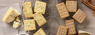 Homemade crackers offer a great way to serve this savory snack without all the salt.