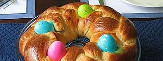 Anyone can make this fun and colorful spring egg wreath.