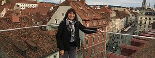 Northwest Prime Time's online travel columnist, Debbie Stone. Here she is pictured in Austria.