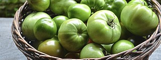 Don't fret if your tomatoes don't ripen to red. Green tomatoes can be used in these low-sodium dishes.