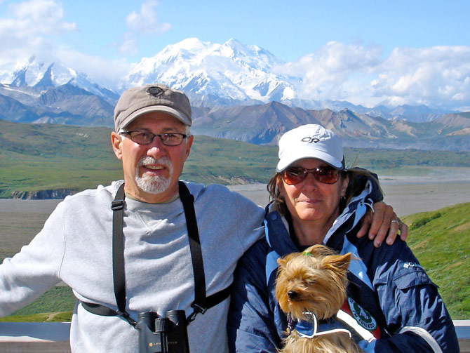 Bruce & Sharon Gallagher at Mt. McKinley.
