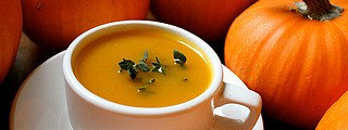Pumpkin is healthy for you. It's low in calories and low in sodium, and high in beta carotene and vitamin A. It's a great source of potassium and fiber and the seeds are high in trace minerals and vitamins like magnesium, phosphorous, vitamin E, protein and essential fatty acids.